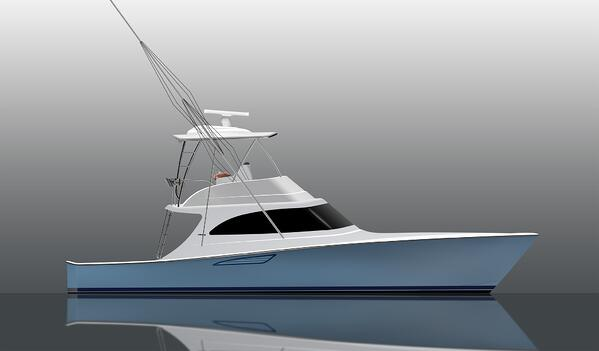 Viking 46 Billfish Rendering